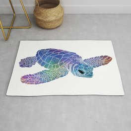 Colorful Sea Turtle I Rug
