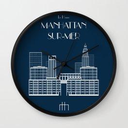 Manhattan-sur-Mer Wall Clock