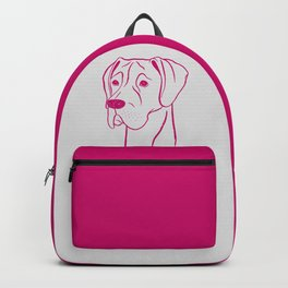 Great Dane (Light Gray and Berry) Backpack
