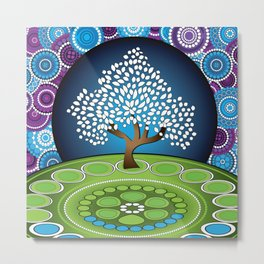 Circle Tree Of Life Metal Print