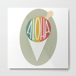 Taro Patch Design Aloha Shave Ice Metal Print