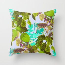 Herbs || #botanical #illustration Throw Pillow