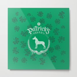 St. Patrick's Day Great Dane Funny Gifts for Dog Lovers Metal Print