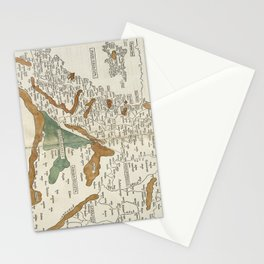 Vintage Map of Mesopotamia (1482) Stationery Cards