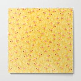 The Yellow Baby Chicks Club Metal Print