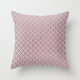Geometric abstract mauve pink silver foil pattern Throw Pillow