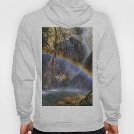 Alcazar waterfall and rainbow.. Lecrin Valley Hoody