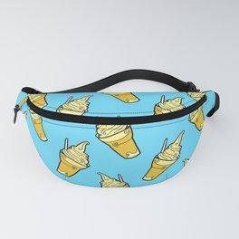Sweet Little Pineapple Floats on Blue Fanny Pack