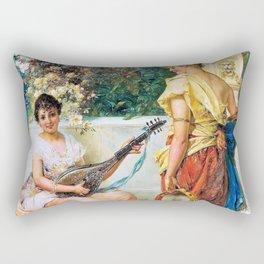 The Merry Tune - Hans Zatzka Rectangular Pillow