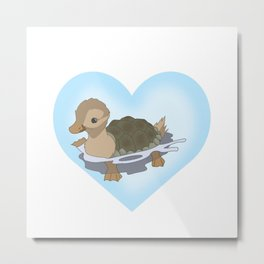 Turtleduck  Metal Print