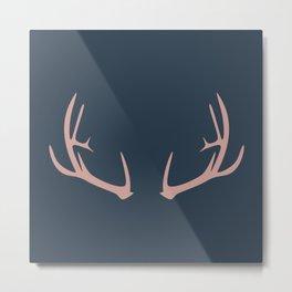 Antlers (Frost) Metal Print