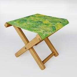 Green and Yellow Swirls in acrylic Folding Stool