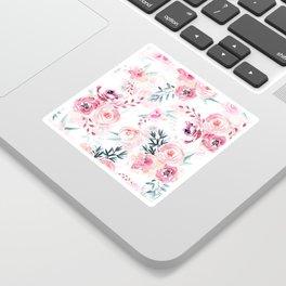 Pink Watercolor Florals I Sticker