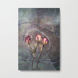 Trapped Roses Metal Print