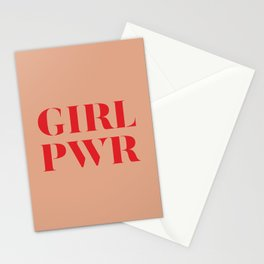 Girl Power quote Stationery Cards
