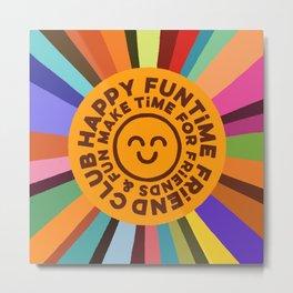 Happy Funtime Badge Metal Print