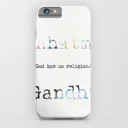 Mahatma Gandhi quote 2 iPhone Case