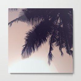 Palm Sunrise Metal Print