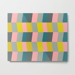 Shapes and Color Pattern 99 Metal Print