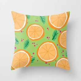 Orange You Cute Throw Pillow