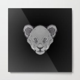 Icons of Africa - Lion Cub Metal Print