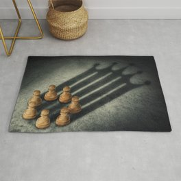the pawns crown Rug
