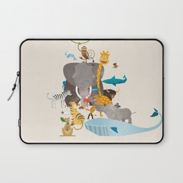 Kids Room Animals – Illustration for the sleeping room of girls and boys Laptop Sleeve