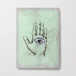 Hand with an Eye - 1 Metal Print