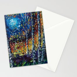 Moonlight Sonata with a Palette Knife Stationery Cards