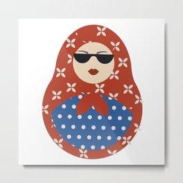 Modern Russian Matryoshka doll Metal Print