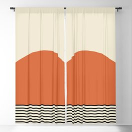 Sunrise / Sunset - Orange & Black Blackout Curtain