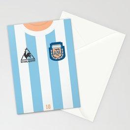 World Cup, National Teams Vintage Football jersey, retro soccer shirt, Argentina, Albiceleste, Diego Armando Maradona Stationery Cards