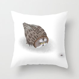 Great Grey Owl (Canavians Series) Throw Pillow