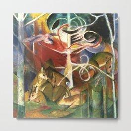 "Franz Marc ""Deer in the Forest I"" Metal Print"