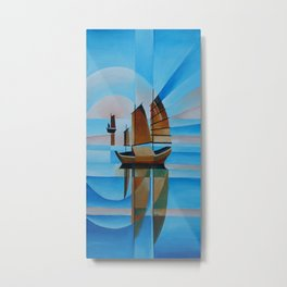 Soft Skies, Cerulean Seas and Cubist Junks Metal Print