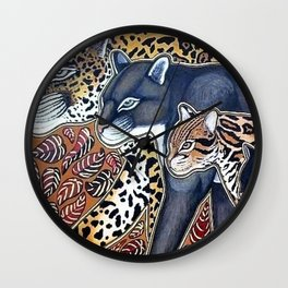 Big cats of Costa Rica Wall Clock