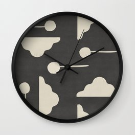 Clouds and lollipops - dark version Wall Clock
