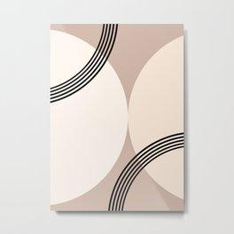 Minimal Abstract Circle Glam #1 #minimal #decor #art #society6 Metal Print