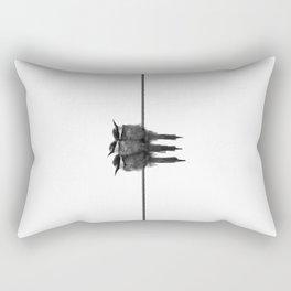 3 birds on the line Rectangular Pillow