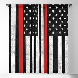 Thin Red Line Blackout Curtain