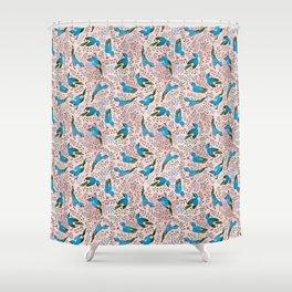 Birds in Spring Shower Curtain