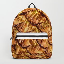 3d abstract snake skin, reptile scale Backpack