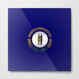 Kentucky State Flag Patriotic Design Metal Print