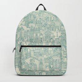 vintage halloween teal ivory Backpack