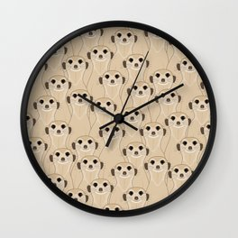 Meerkats Kalahari Desert Wall Clock