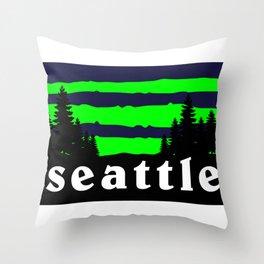 Seattle Outdoor Hiking Pacific Northwest Washington PCT Throw Pillow