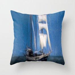 Turner Storms Sailing Ship Throw Pillow
