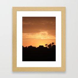 BURNING SUNSET OVER SAN CLEMENTE Framed Art Print