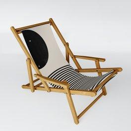 Woodblock Art, Mid Century illustration Sling Chair