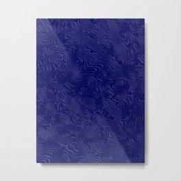 Royal Blue Silk Moire Pattern Metal Print